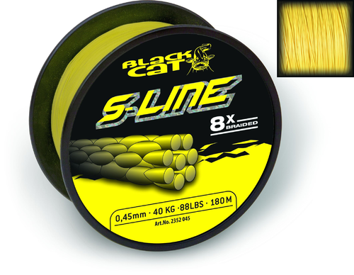 Black Cat S-Line 0,38mm 40kg gelb